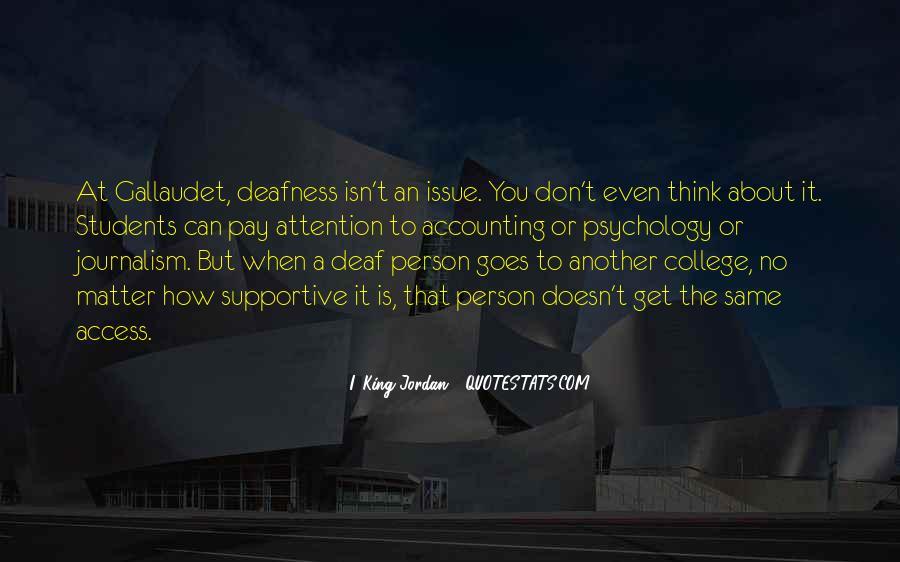 I. King Jordan Quotes #1633083