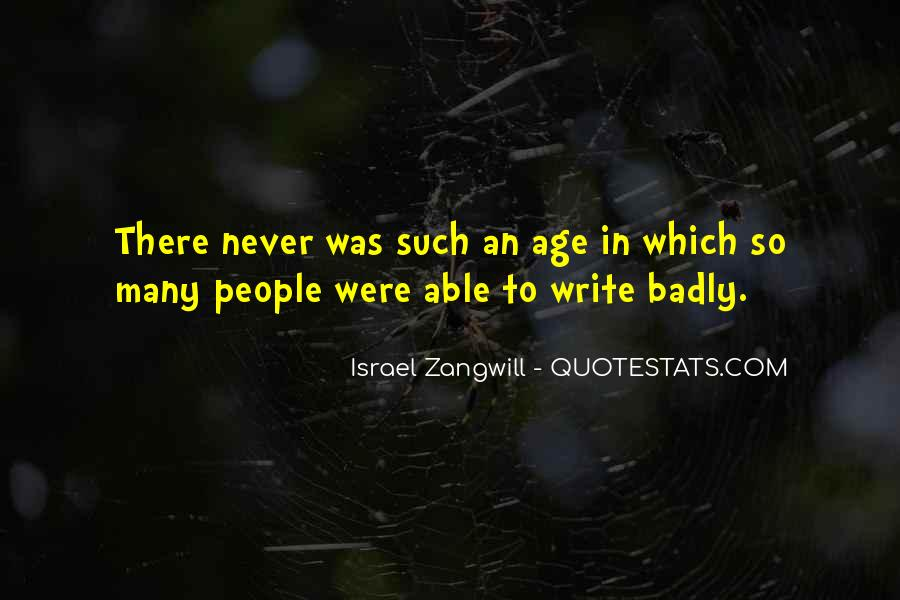 Israel Zangwill Quotes #694404