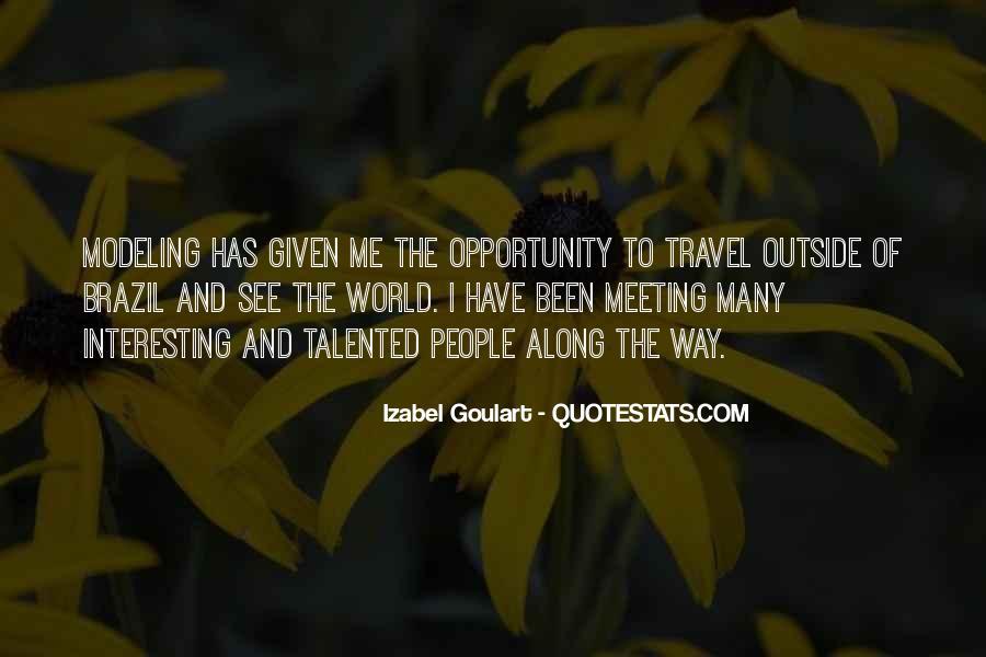 Izabel Goulart Quotes #878149