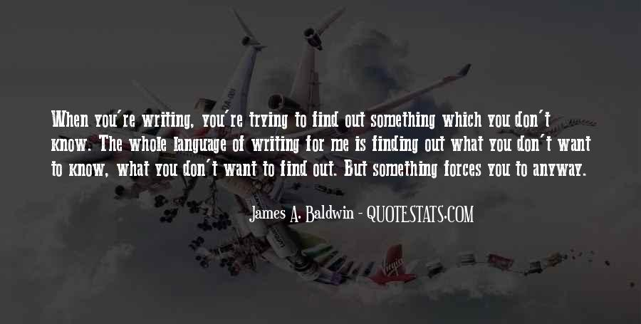 James A. Baldwin Quotes #1041043