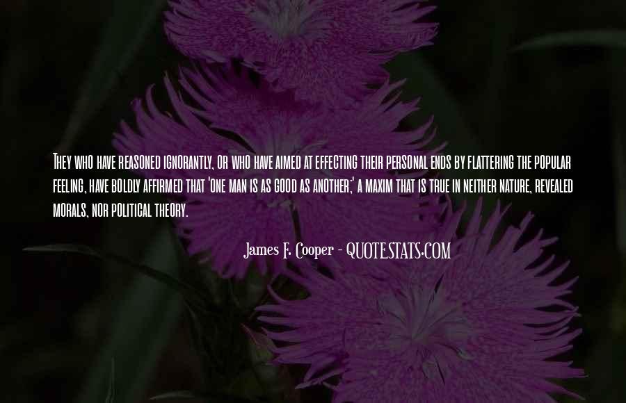 James F. Cooper Quotes #1457269