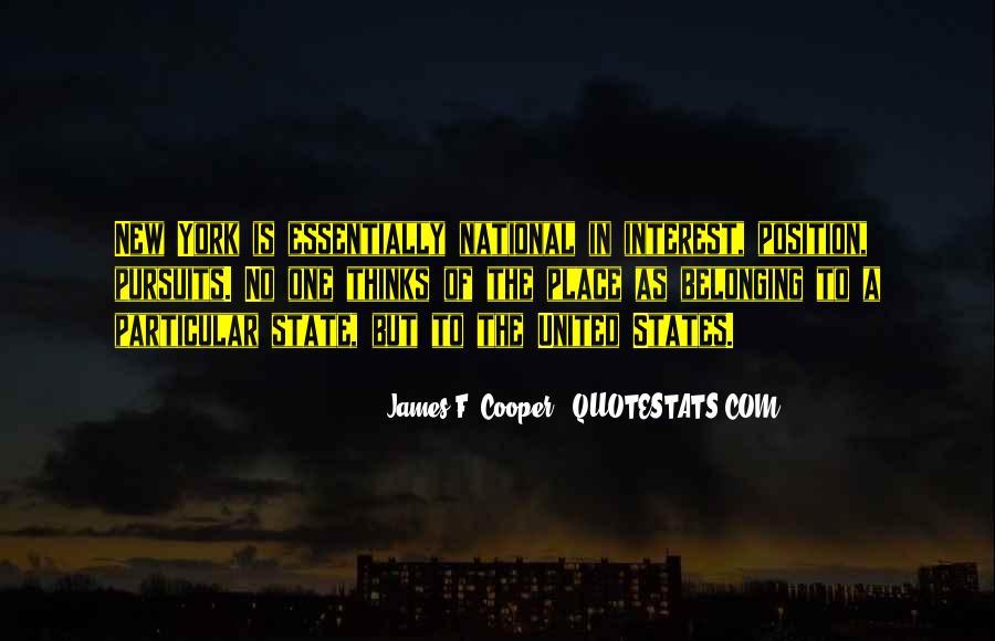 James F. Cooper Quotes #571008