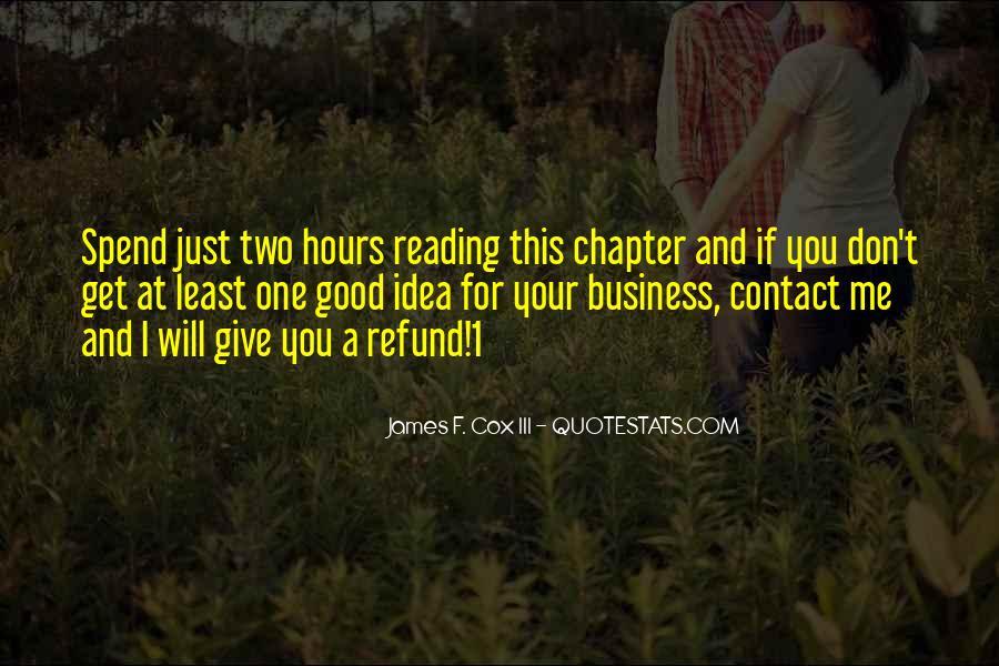 James F. Cox III Quotes #1024215