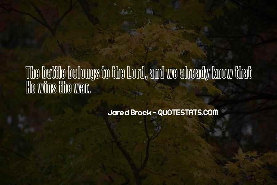 Jared Brock Quotes #1774908