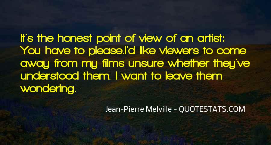 Jean-Pierre Melville Quotes #68160