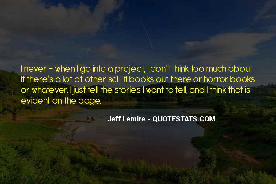 Jeff Lemire Quotes #112452
