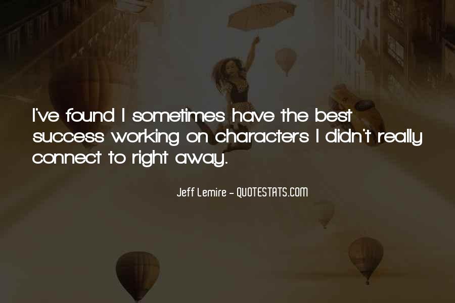 Jeff Lemire Quotes #1378933