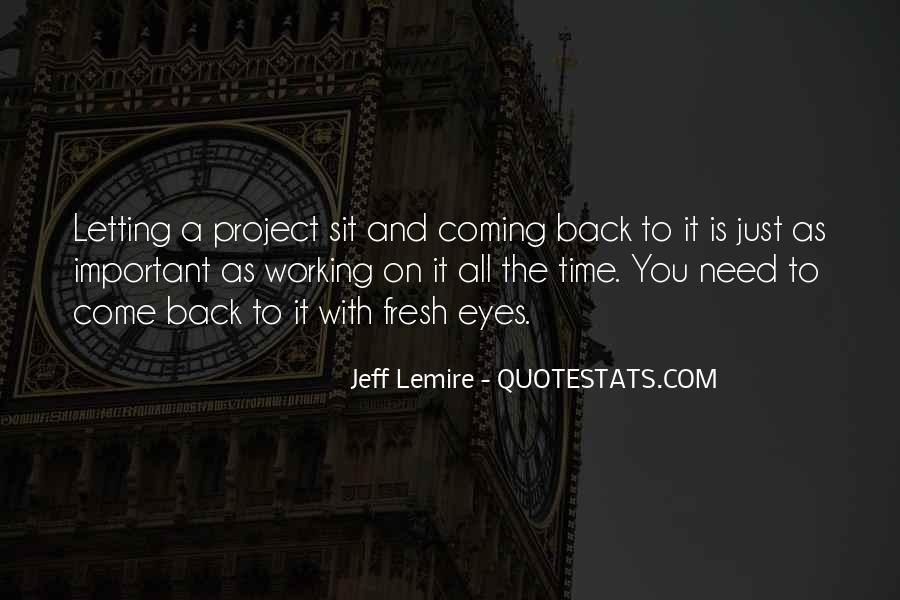 Jeff Lemire Quotes #1394561