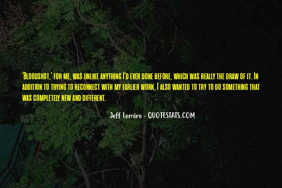 Jeff Lemire Quotes #14250
