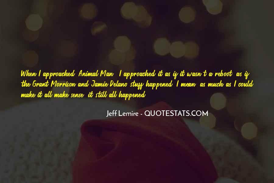 Jeff Lemire Quotes #209902