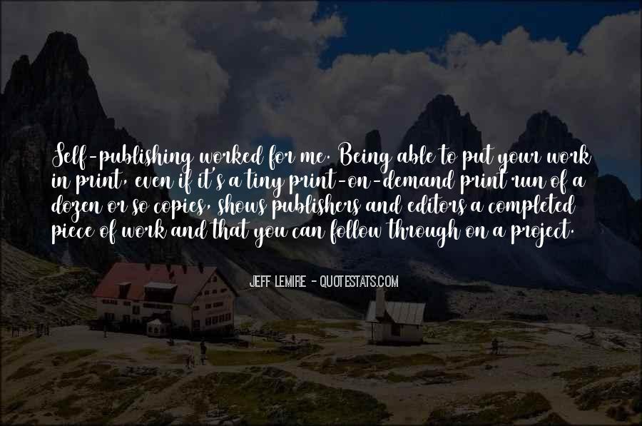 Jeff Lemire Quotes #247307