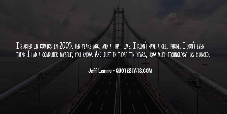Jeff Lemire Quotes #392601