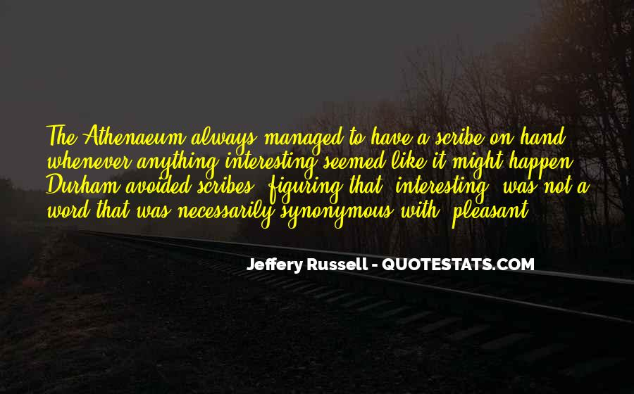 Jeffery Russell Quotes #1054851