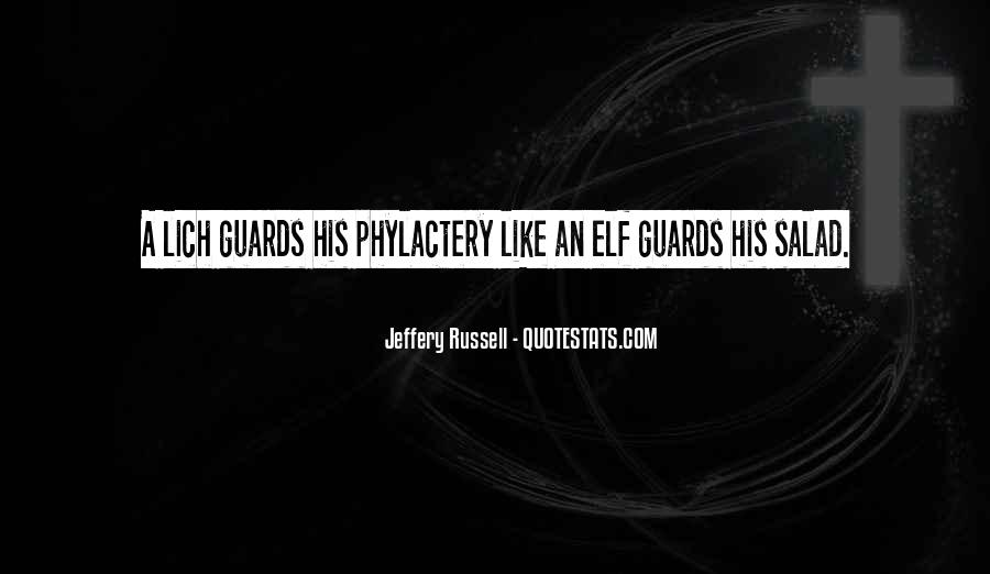 Jeffery Russell Quotes #1684300