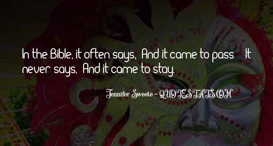 Jennifer Sweete Quotes #1636263