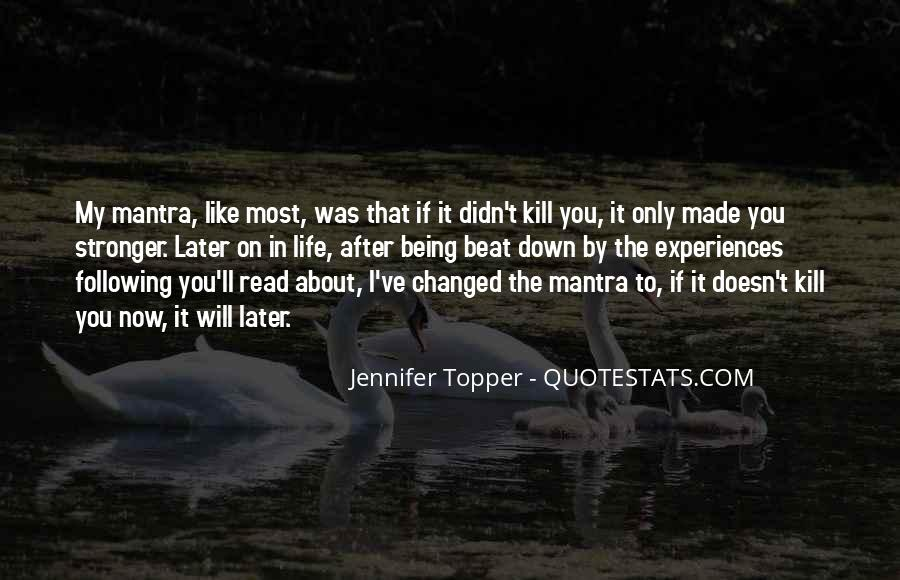 Jennifer Topper Quotes #112605