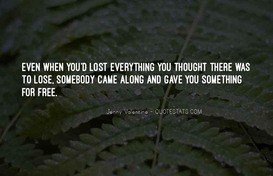 Jenny Valentine Quotes #709696