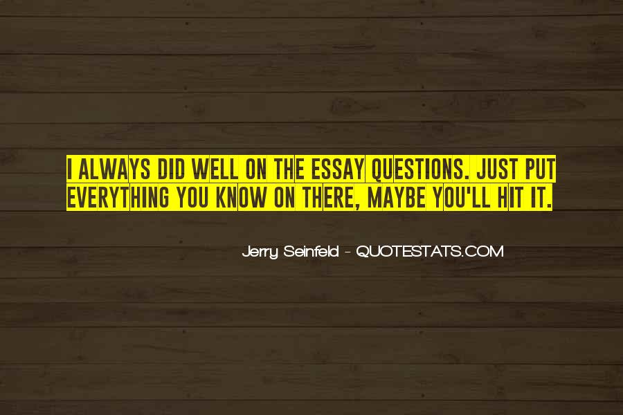 Jerry Seinfeld Quotes #785709