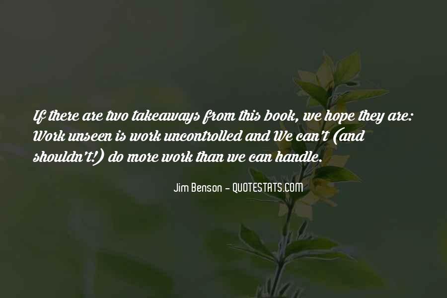 Jim Benson Quotes #125056