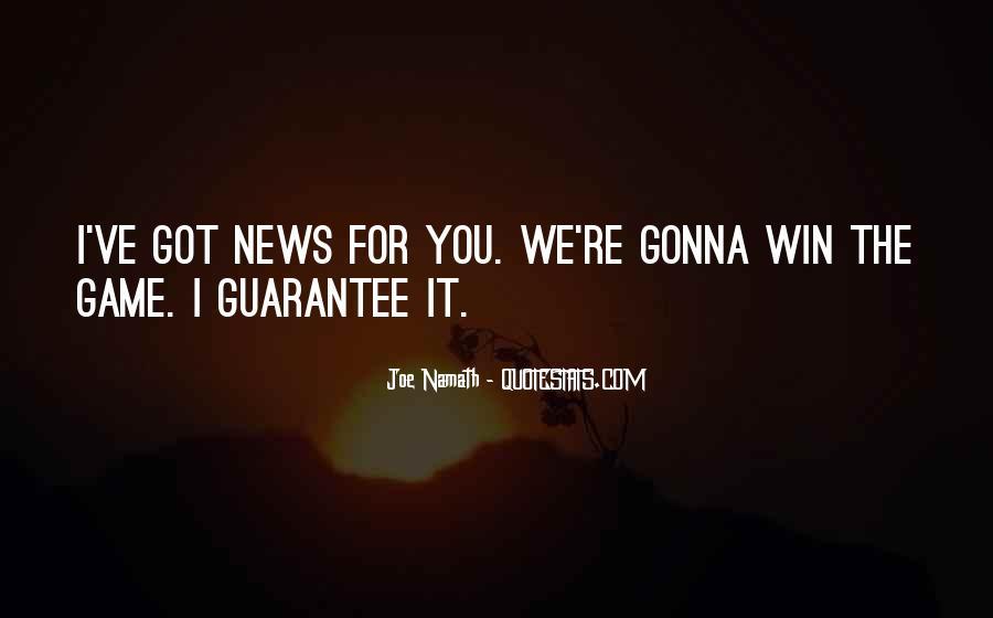 Joe Namath Quotes #1379717
