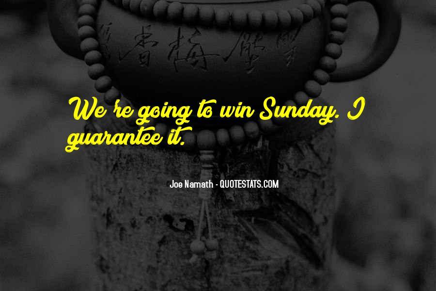 Joe Namath Quotes #1578828