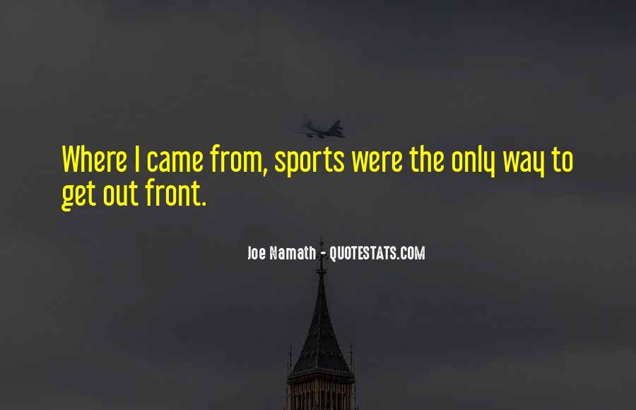 Joe Namath Quotes #857972