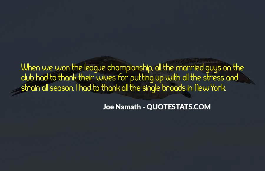 Joe Namath Quotes #87880