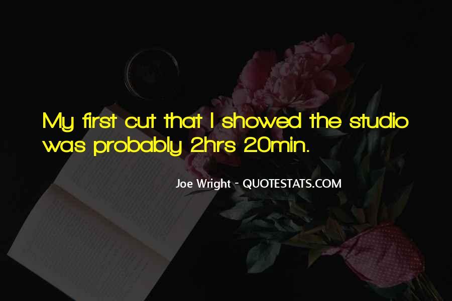 Joe Wright Quotes #1381534