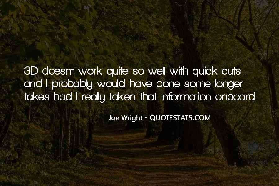 Joe Wright Quotes #444293