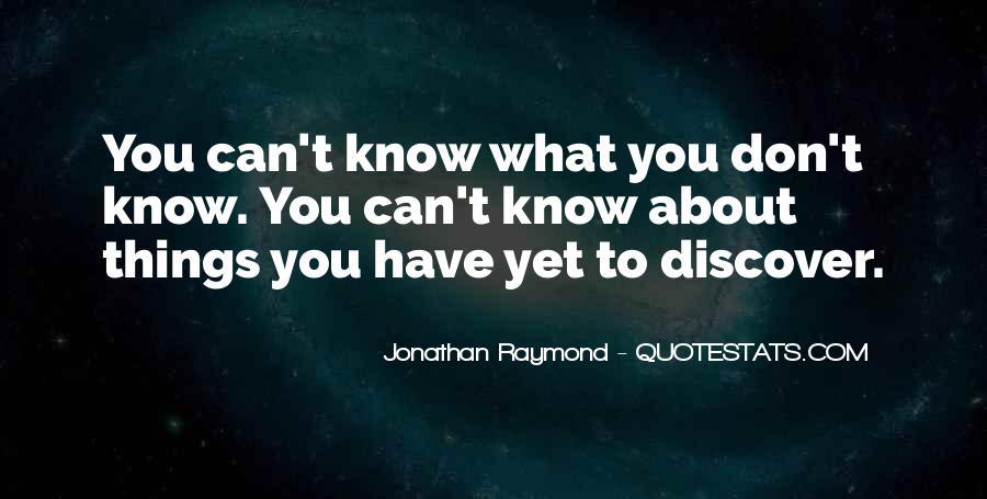Jonathan Raymond Quotes #671570