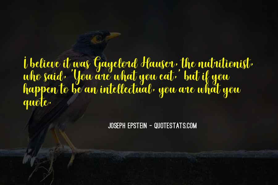 Joseph Epstein Quotes #1150129