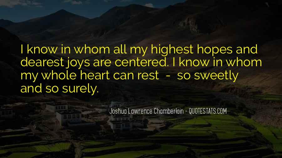 Joshua Lawrence Chamberlain Quotes #922373