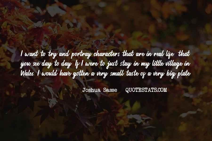 Joshua Sasse Quotes #1257064