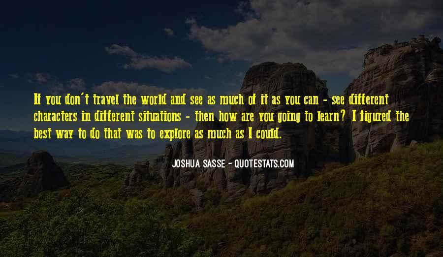 Joshua Sasse Quotes #1537749