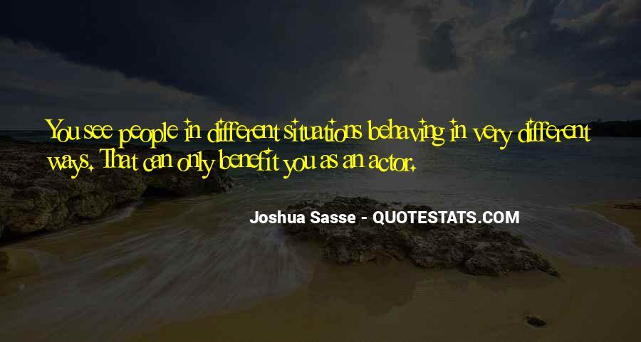 Joshua Sasse Quotes #1649349