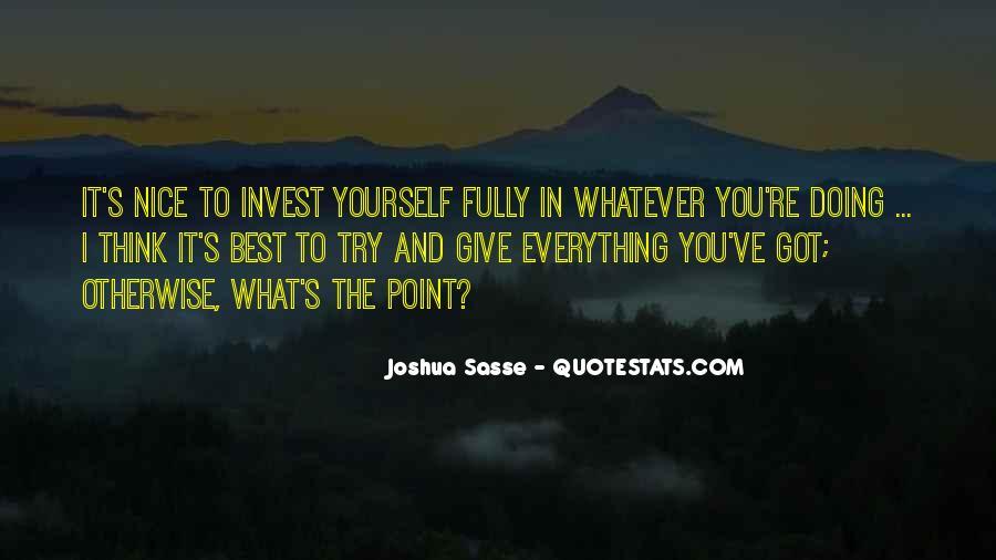 Joshua Sasse Quotes #934181