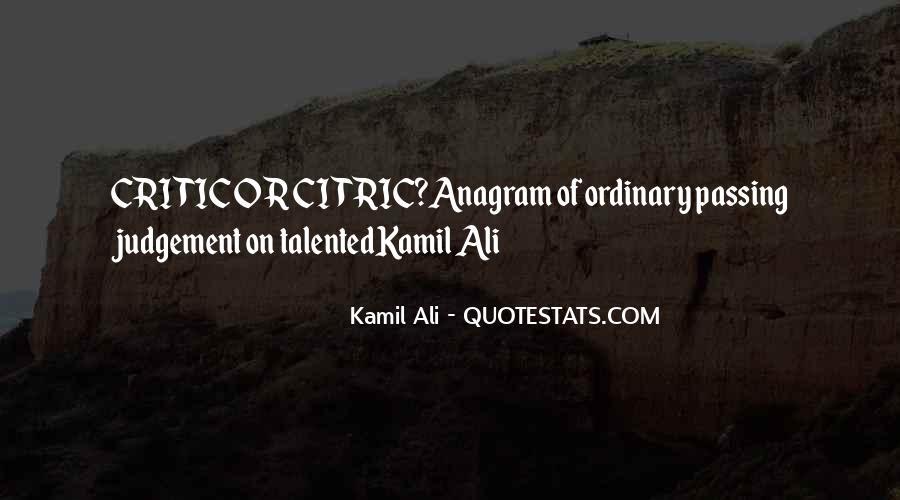 Kamil Ali Quotes #111092