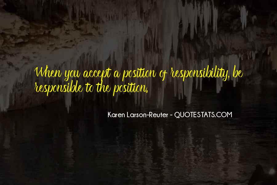 Karen Larson-Reuter Quotes #432169