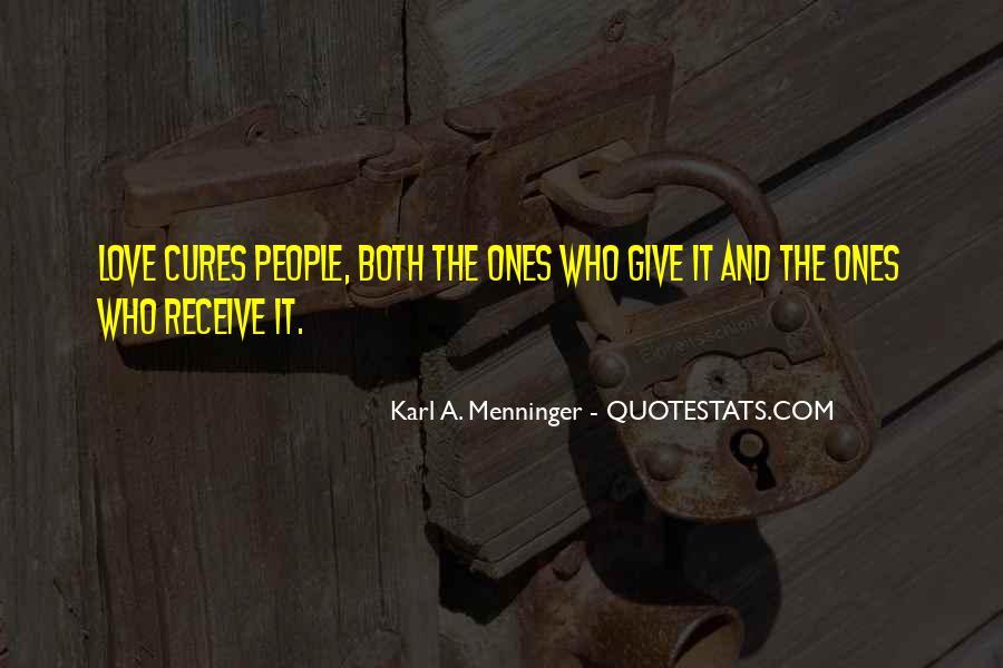 Karl A. Menninger Quotes #1303203