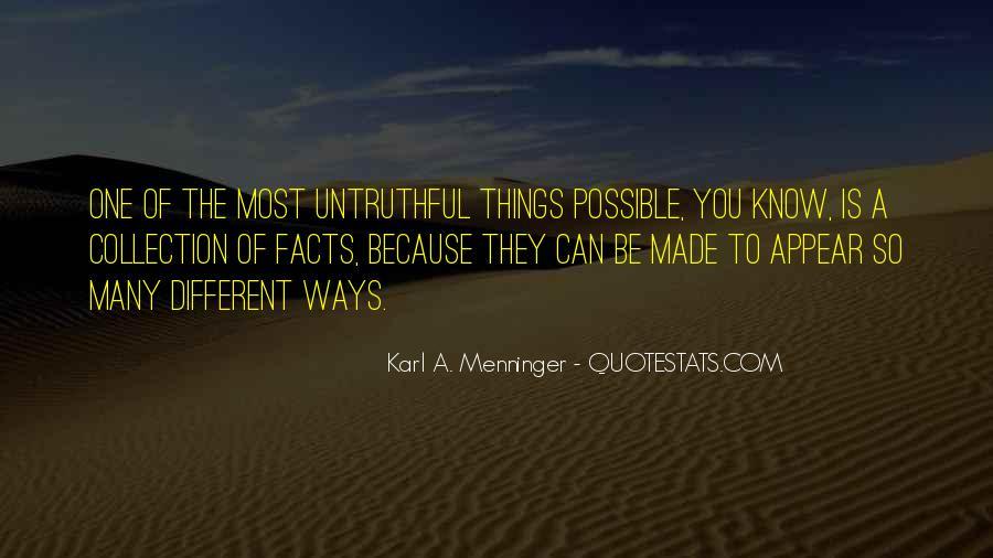 Karl A. Menninger Quotes #528029