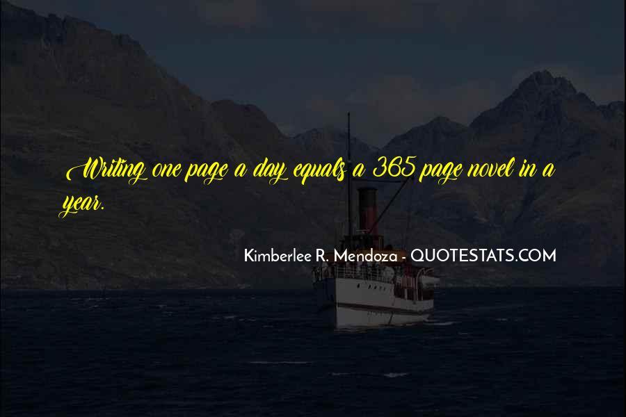 Kimberlee R. Mendoza Quotes #1069711