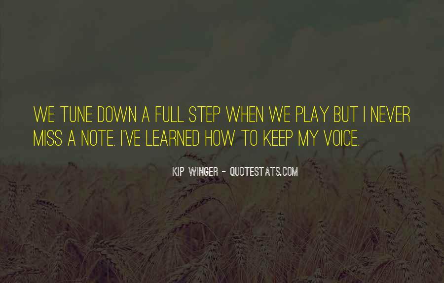 Kip Winger Quotes #1288833