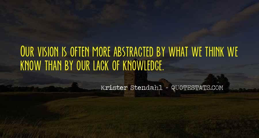 Krister Stendahl Quotes #1327984