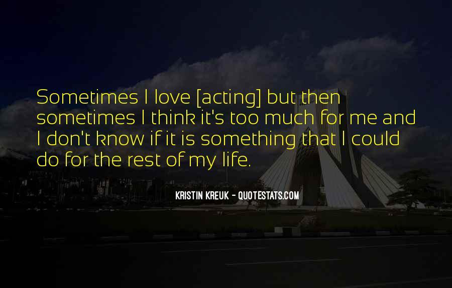 Kristin Kreuk Quotes #737463