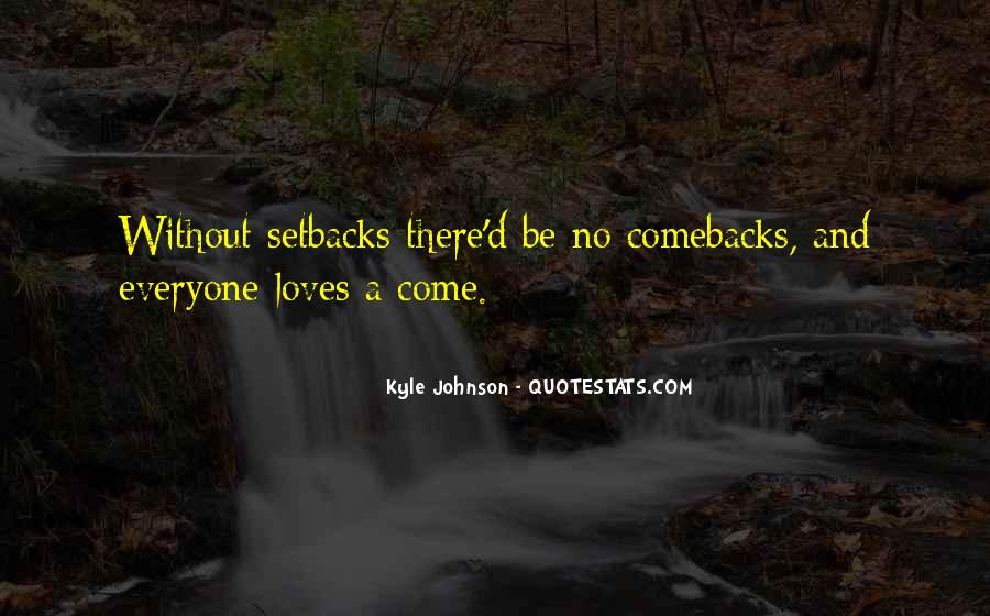 Kyle Johnson Quotes #338065