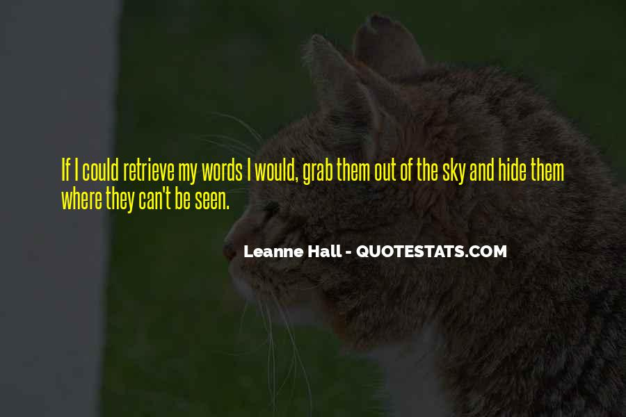 Leanne Hall Quotes #862525