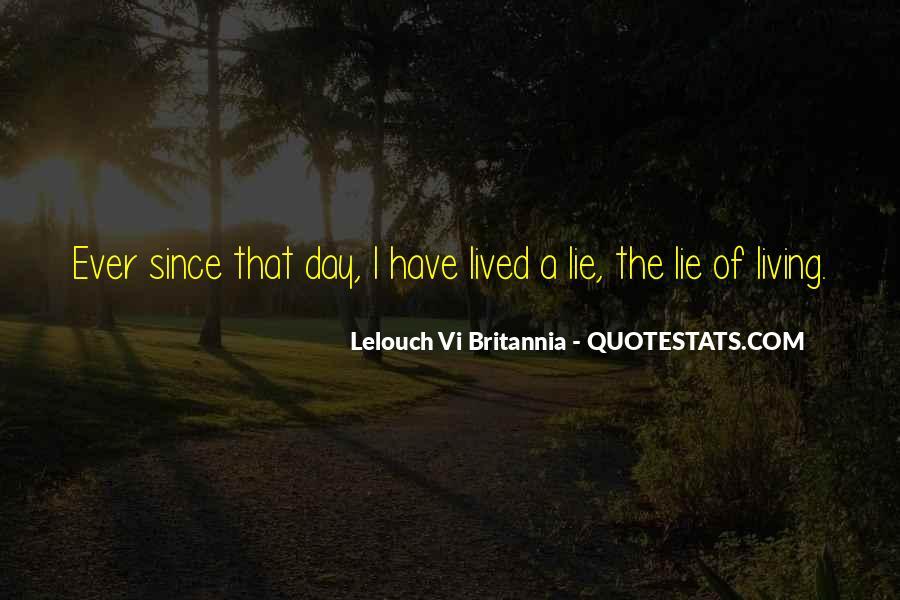 Lelouch Vi Britannia Quotes #1751160