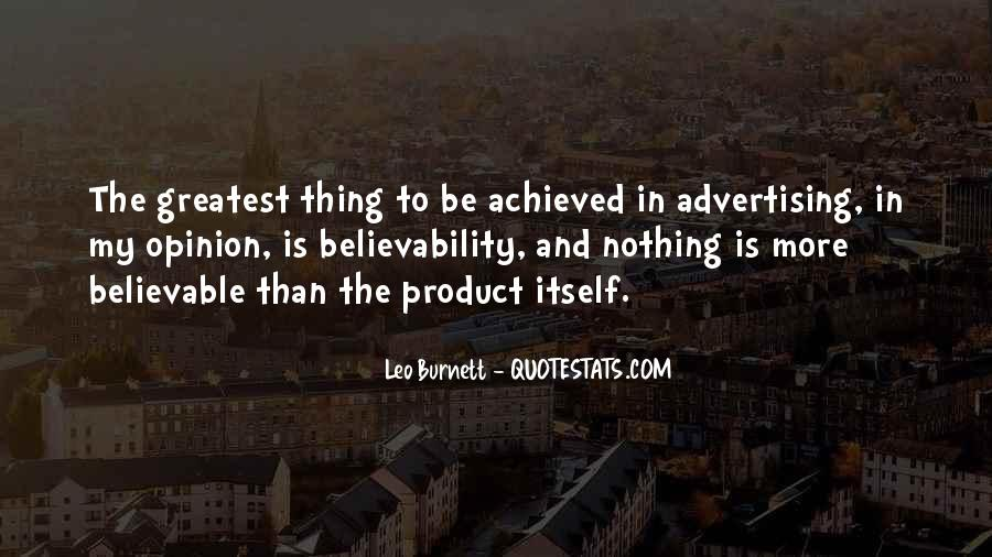 Leo Burnett Quotes #1025749