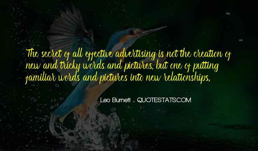 Leo Burnett Quotes #1065388