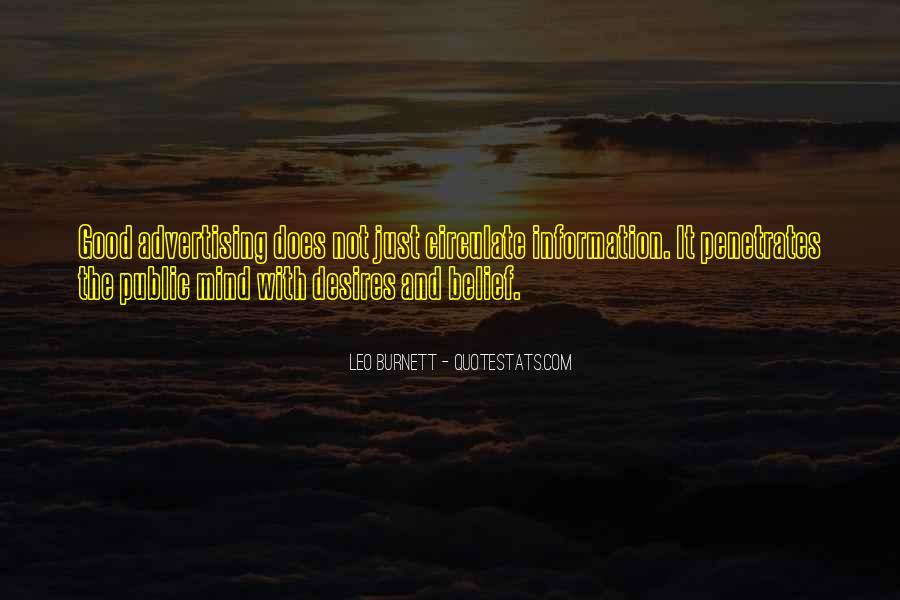 Leo Burnett Quotes #122192